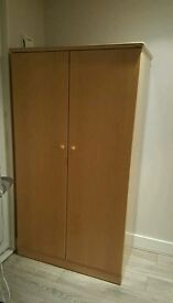 Solid Beech Wood 6ft Cupboard