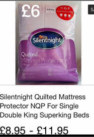 LOOK !!! Silentnight Quilted Kingsize Mattress protector, Brand New in Pack, £6 or 2 for £10,