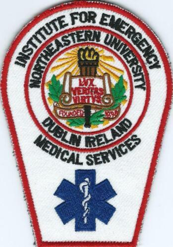Northeastern University Paramedic School Embroidered Patch Size 120 mm x 82 mm
