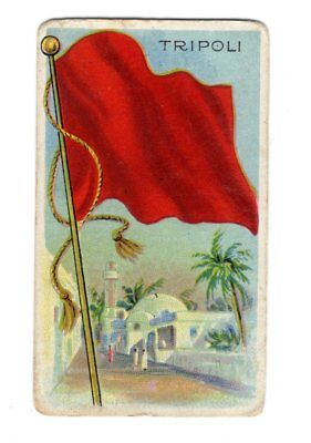 Vintage Sweet Caporal Little Cigars TRIPOLI Flags Of All Nations Card - Little Cigars Sweet
