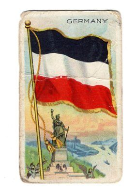 Vintage Sweet Caporal Little Cigars GERMANY Flags Of All Nations Card - Little Cigars Sweet