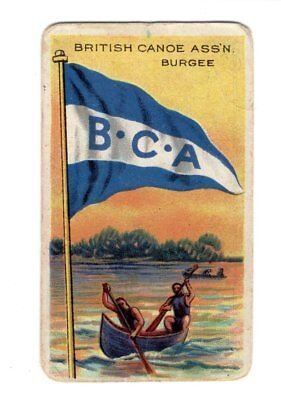 Vintage Sweet Caporal Little Cigars BRITISH CANOE Flags Of All Nations Card - Little Cigars Sweet