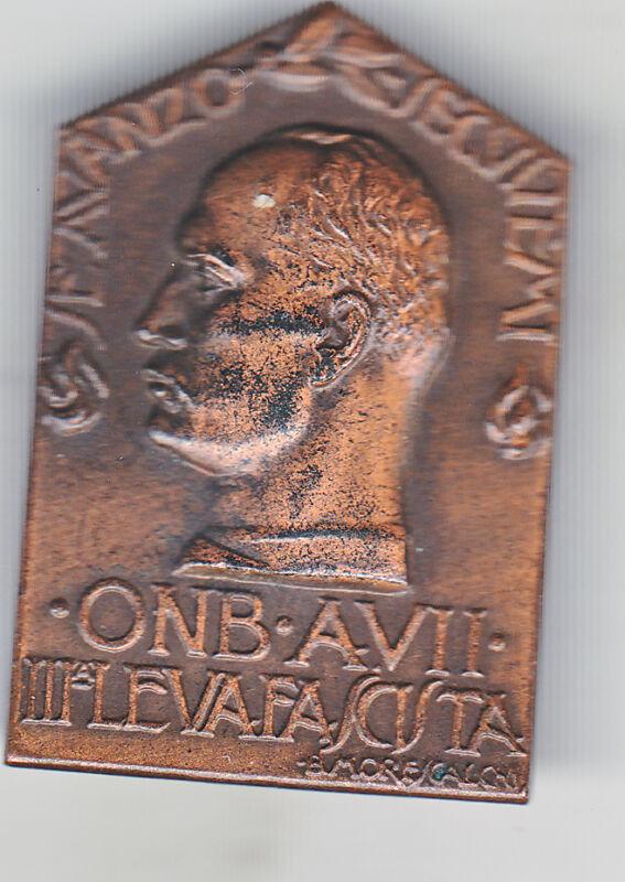 spilla ONB III leva fascista Mussolini