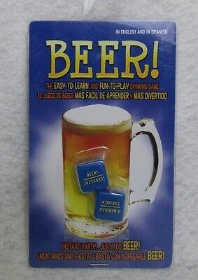 Usado, Beer Cerveza Dados Juego de beber Inglés y español Ez Diversión Fiesta Bar Chico segunda mano  Embacar hacia Argentina
