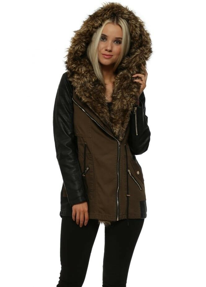 d4b915f24 Forever 21 parka coat jacket leopard lining 10 or 12 or 14 | in Dundee |  Gumtree