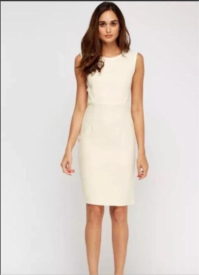 Contrast Trim Textured Midi Dress (UK 12)