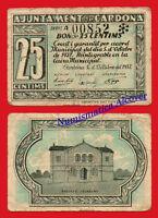 Billete Local Cardona Ayuntamiento 25 Centimos 1937 Bc- / Vg -  - ebay.es