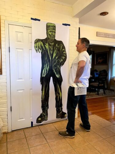 "7 foot Green Frankenstein poster From Comic Book Ads ""90 COPIES AVAILABLE"""