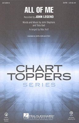 All of Me John Legend Noten für Chor SATB/PF Mac Huff (Arr.)