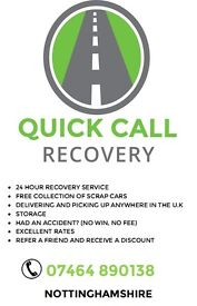 QUICK CALL RECOVERY, 24 HOUR SERVICE - 07464890138