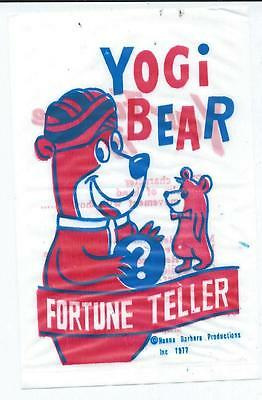 Vintage Hanna Barbera Yogi Bear Fortune Teller Give-away
