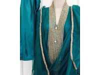 Pakistani shalwar kameez,wedding wear,Indian kurti,agha noor,mehndi,size14,long gown dress
