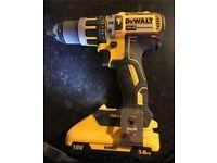 DeWalt Drill brushless xr 18v battery cordless