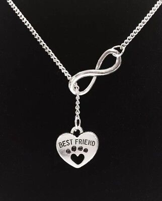 Paw Print Necklace Best Friend Heart Veterinarian Dog Lover Gift For Her (Best Jewelry Gifts For Lovers)