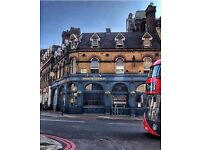 Bar staff wanted for vibrant Fitzrovia pub!