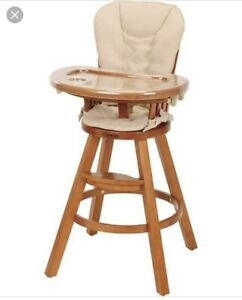 Graco wooden high chair