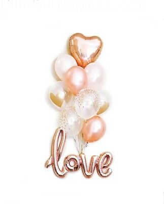 Love Balloons Engagement Party Decorations Bridal Shower Proposal Rose Gold ()