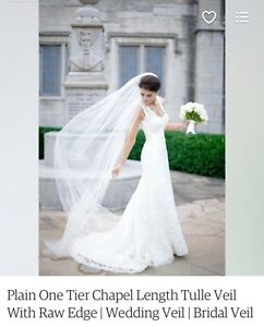 One Tier Ivory Chapel Veil