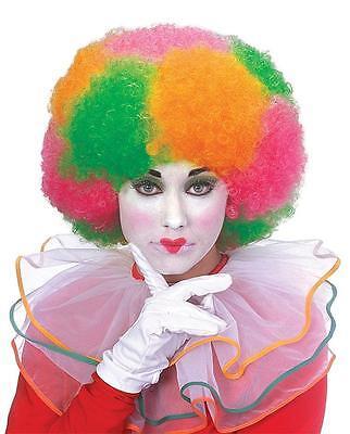 Neon Clown Wigs - Neon Multi Color Deluxe Clown Wig