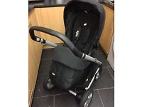 Joie Chrome Pram New Footmuff & Raincover 4 Months Old Great Condition