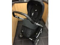 Joie Chrome Pram New Footmuff & Raincover 3 Months Old Great Condition