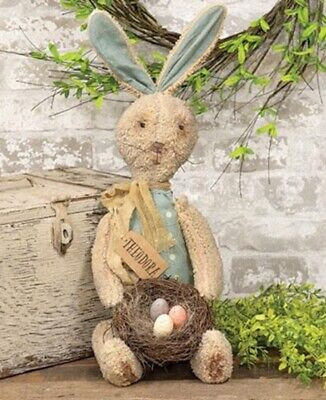XL Primitive Country Rustic Farmhouse Easter BUNNY DOLL Rabbit
