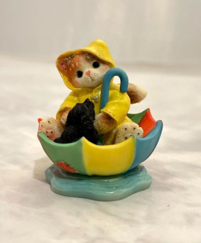Calico Kittens Friendship Figurine, Friendships Are Like Sunshine Rain, #296953C