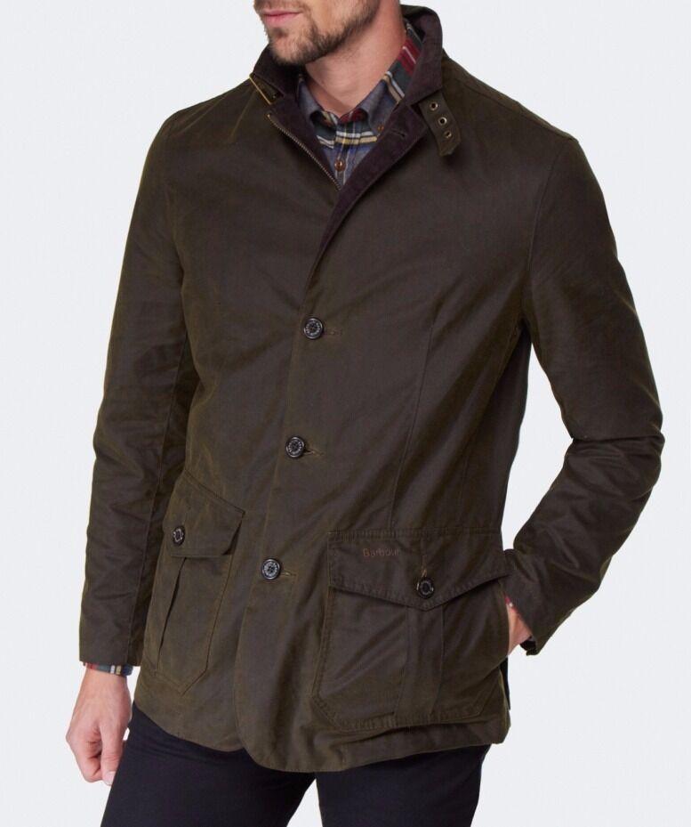 Men S Barbour Lutz Jacket Olive Size Medium In