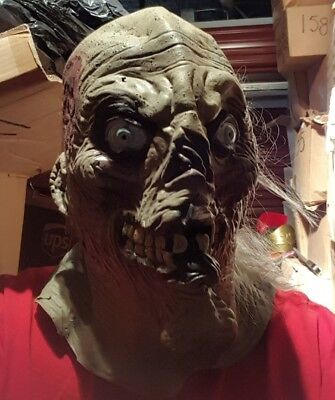 Crypt Keeper Mask Adult Tales from the Crypt 52011 Super Deluxe Full Mask lot 26 - Tales From The Crypt Mask
