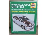 Hardback book - HAYNES WORKSHOP MANUAL - VAUXHALL/OPEL VECTRA, Oct 2005 to Oct 2008 petrol & diesel