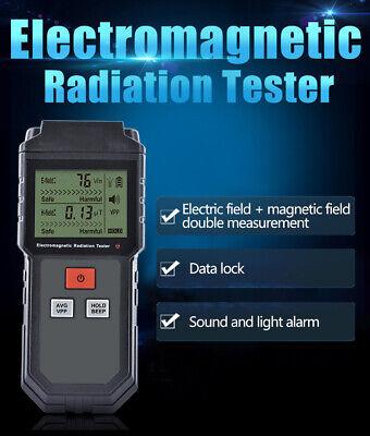 Top Lcd Digital Electromagnetic Radiation Detector Emf Meter Dosimeter Tester Hk