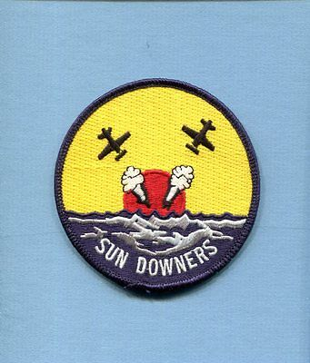 Decal VF-111 SUNDOWNERS US NAVY GRUMMAN F-14 TOMCAT Squadron Tab Patch Image