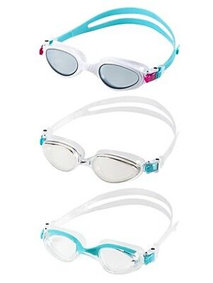 FREE Shipping Speedo Adult Goggles 3 Pack White & Light Blue Anti-fog UV Protect