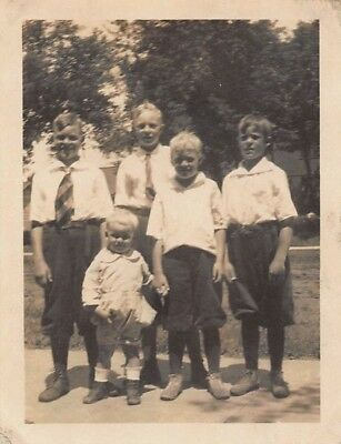 Vtg PHOTO 1920s YOUNG BOYS COUSINS BROTHERS KNICKERS KNEE PANTS SHORTS - 1920s Boys Fashion