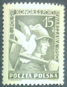 POLAND STAMPS MNH Fi529 Sc486 Mi564 - Congress of peace, 1950, clean - Reda, Polska - POLAND STAMPS MNH Fi529 Sc486 Mi564 - Congress of peace, 1950, clean - Reda, Polska