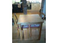 IKEA 'BJORKUDDEN' DESIGN TABLE & 2 CHAIRS