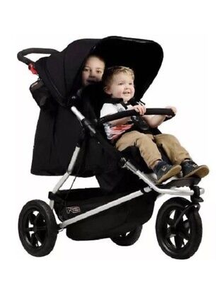 Mountain Buggy Plus One Inline Double Stroller - Black