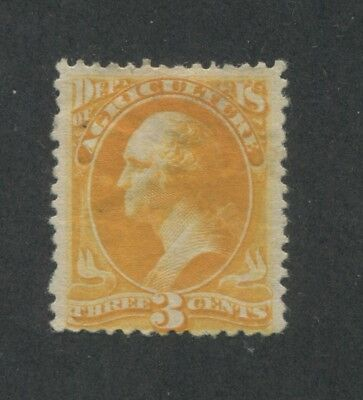 1873 United States Official Postage Stamp #O3 Mint Hinged Disturbed Original Gum