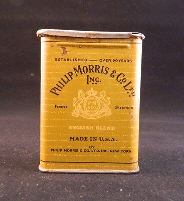 Vintage Philip Morris English Blend Cigarettes Slider Lid Made Usa