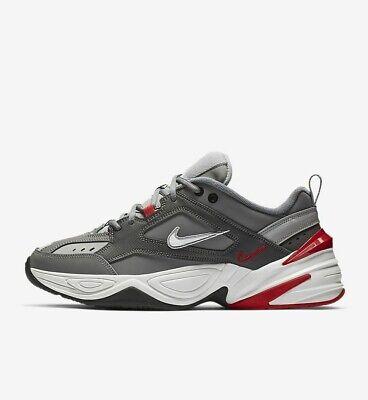 Nike M2K Tekno BV2519-001 Gunsmoke Grey White Red Men's Lifestyle Shoes NEW!