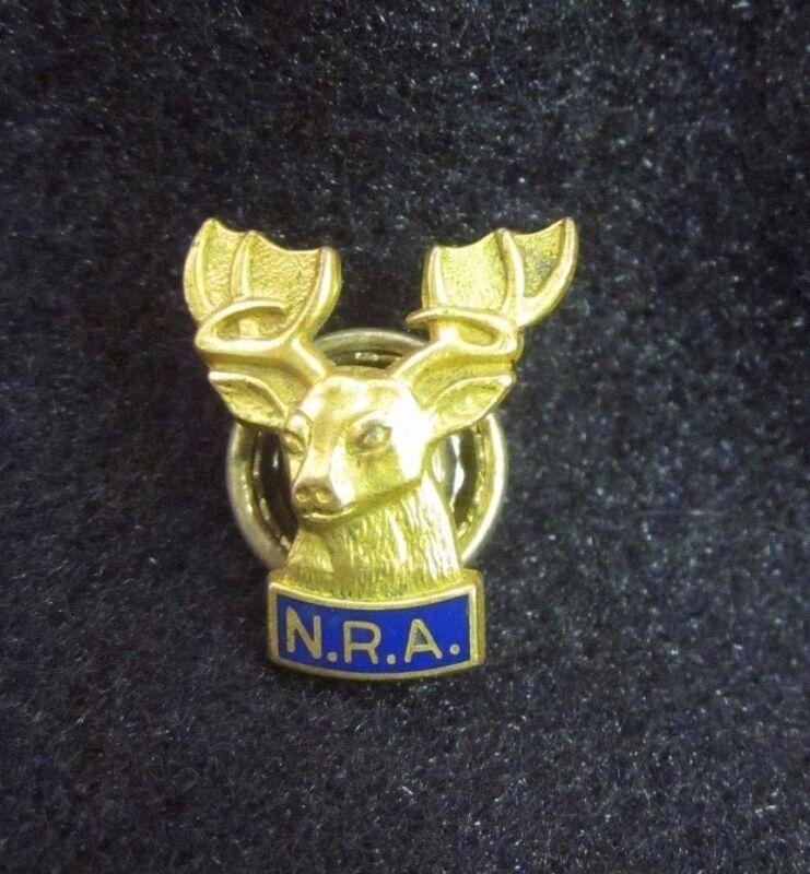 Vintage Elks Club N.R.A. Gold Filled Member Lapel Hat Pin