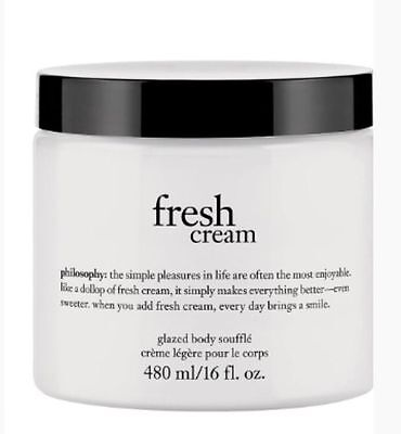 PHILOSOPHY Fresh Cream Perfumed GLAZED BODY SOUFFLE Cream Lotion 16oz NeW ()