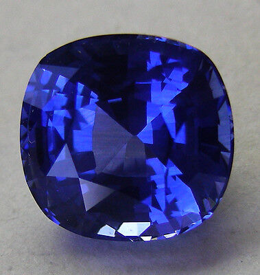 4.67ct !! SAPPHIRE CORNFLOWER BLUE -INTENSE NATURAL COLOR +CERTIFICATE INCLUDED