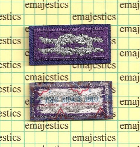 BSA YOUTH RELIGIOUS AWARD SQUARE KNOT MINT PATCH CURRENT SINCE 1910 BACK