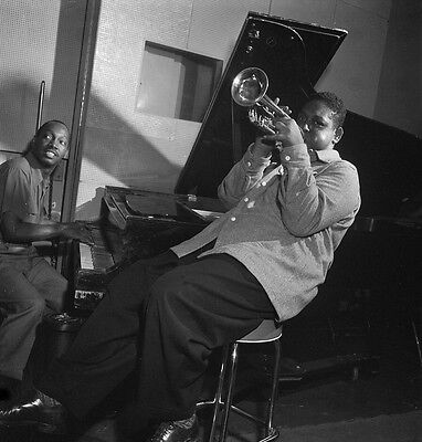 Fats Navarro and Tadd Dameron in the studio N.Y 1948 8 x 8  Photograph