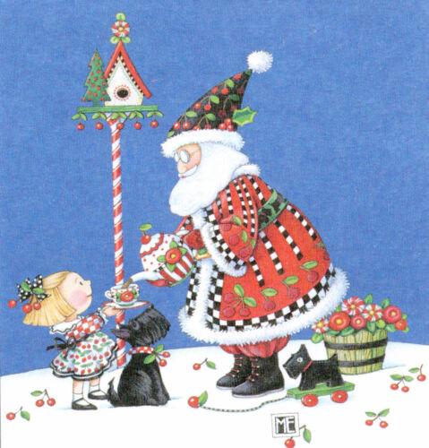 Santa Henry Cuppa Christmas Cherry-Handcrafted Magnet-W/Mary Engelbreit art