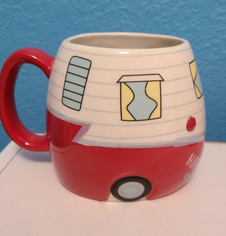 Happy Camper Ceramic Mug Coffee Tea Red Camper Bass Pro Shops Trailer Outdoors