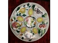 Hand painted Italian salad/ hors d'oevres serving dish / platter