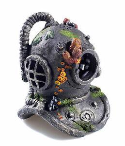 Classic deep sea divers helmet aquarium ornament fish tank for Aquarium scuba diver decoration