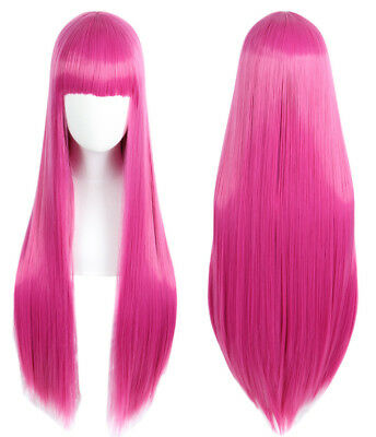 Princess Bubblegum Wig Adventure Time Hot Pink Long Straight Cosplay Wig (Princess Bubblegum Cosplay)